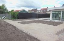 Aanleg verharding tuin Boxtel